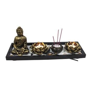 Vintage Gypsum Buddhism Candel Holder Chinese Sand Table Ornament Creative Desktop Decoration Home Decoration Accessories