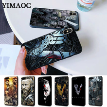 Vikings Serie 4 Colorful Printing Drawing Silicone Case for iPhone 5 5S 6 6S Plus 7 8 X XS Max XR