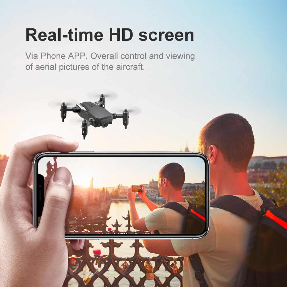 LF606 2.4G Mini RC Quadcopter with Camera 4K WiFi HD FPV Drone Altitude Hold Headless Mode Follow Me RC Drone for Kids