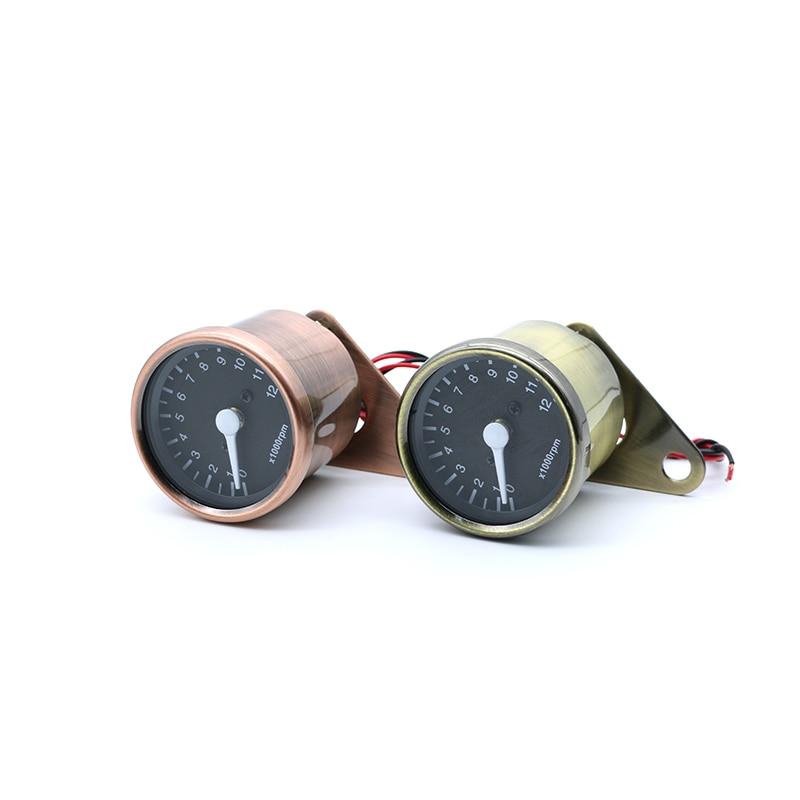 Universal 12V LED Highlight Backlight Bronze Motorcycle Odometer Speedometer Gauge 140km/h For Retro