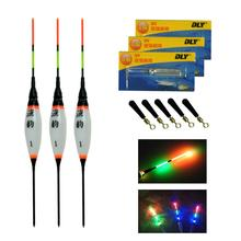 3 Pcs/Lot Electronic LED Fishing Floats Buoyancy Lake Carp Battery Night Light Luminous Floating Float 0.8g 1.3g 1.8g