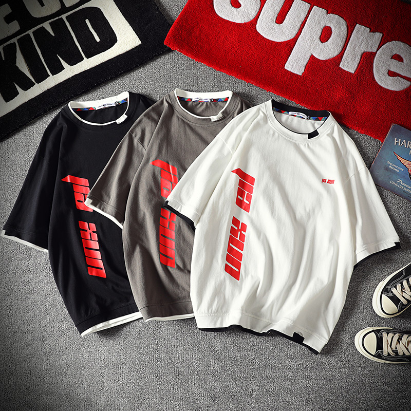 Men's Cotton Fashion T-shirt Mens Summer Funny Tshirts 5XL Casual Letter T Shirt Man Oversized  Hip HopTops & Tees Streetwear