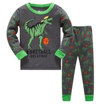 3-8 years children christmas dinosaur pajamas sets kids sleepwear boys stripes pyjamas baby santa pijamas