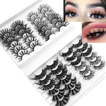 NEW5/24/40 Multipack3D Soft Mink Hair False Eyelashes Handmade Wispy Fluffy Long Lashes Natural Eye Makeup Tools Faux Eye Lashes