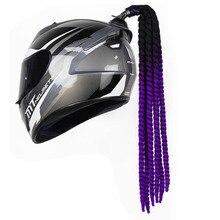 Bicycle Helmet Dreadlocks Motocross Punk 27 Ponytail 60cm Hair-Decoration Braids