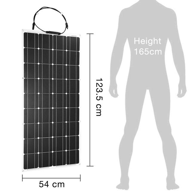 Dokio 18V 100W Flexible Solar Panels China Waterproof Solar Panels 12V Charger Solar Cell Sets For Home/Car/Camping/Boat panel