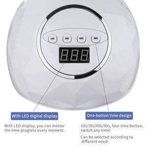 Image 5 - 86W UV LED Lamp DIY Home Nail Art Dryer 39 Pcs LED Gel Polish Fast Curing Nail Lamp Smart Auto Sensor Timer Manicure Machine