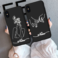 Line Phone Case For iPhone 6 6s 7 8 Plus X XR XS Max Custom DIY Fashion Abstract Art Lover Soft TPU For iPhone 6P X Phone Cases цены