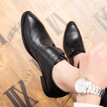 New Shoes Men Dress Leather Man Slip On Flats Oxford Business Office Formal Wedding Shoe Pointed Toe Zapatos