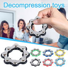 Bicycle Chain Stress Relief Toy fidgeters Solution for Stress Anxiety Fidget Antistress Adult Toys Relieve Stress 6-12 Knots