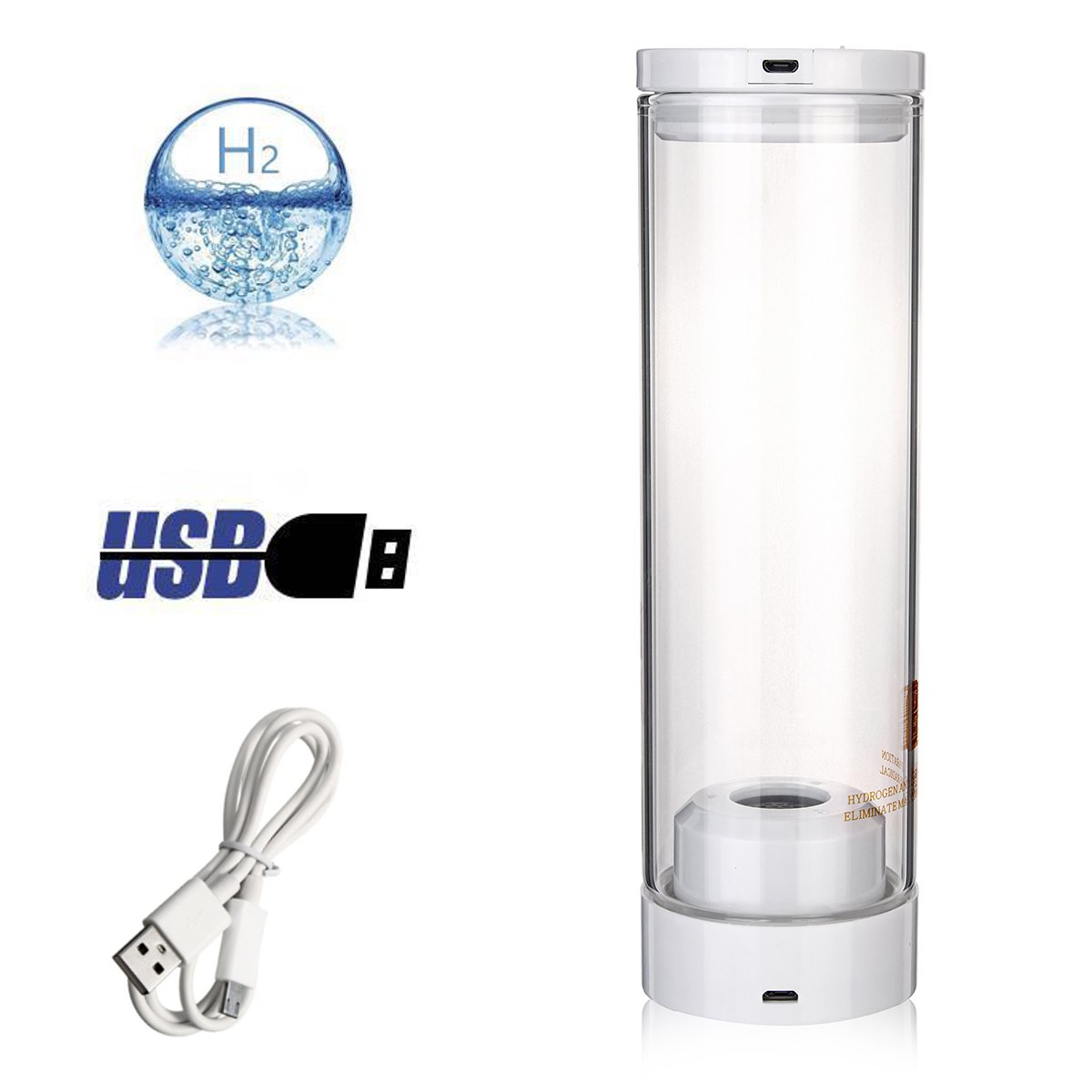 USB Water Hydrogen-Rich Ionizer Generator Maker Portable Energy Bottle Cup SPE Filter Rechargeable Bottle Healthy Anti-Aging