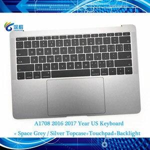"""Image 1 - 오리지널 13.3 """"A1708 Topcase Space 그레이 실버 미국 키보드 트랙 패드 백라이트 Macbook Pro 용 Retina A1708 탑 케이스 커버"""
