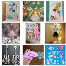 Kokorosa Dies Cutting Balloons 2pcs Best Wishes Birthday Metal Crafts DIY Scrapbooking Photo Album Embossing Decorative Gift
