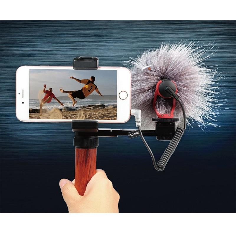COMICA CVM-VM10II Micro d'enregistrement vidéo sur appareil photo/téléphone Micro-téléphone pour Canon Nikon Sony DSLR caméscope pour IPhone Samsung S9 S1 - 3