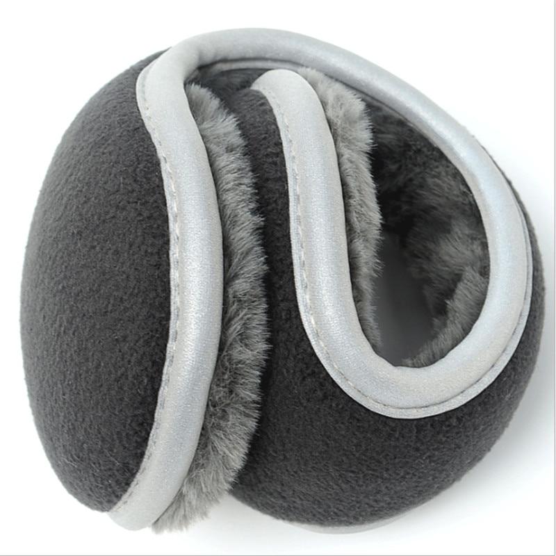 Llight Reflecti Thickened Winter Earmuffs Warm Outdoor Ear Muffs Foldable New Solid Adjustable Earmuffs Ear Warmer For Men Women