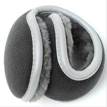 Llight Reflecti Thickened Winter Earmuffs Warm Outdoor Ear Muffs Foldable New Solid Adjustable Warmer for Men Women