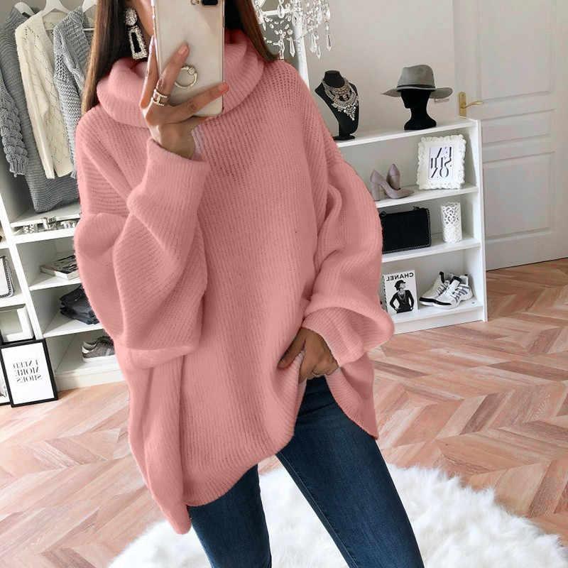 Лидер продаж, Женская свободная толстовка, одноцветная уютная водолазка, джемперы, пуловер, топ, прямая покупка, топы de senhora sea4