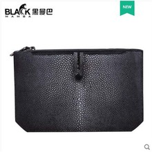 heimanba Pearl fish bag in hand  Devil handbag for mens business book Clutch leather new style men clutch