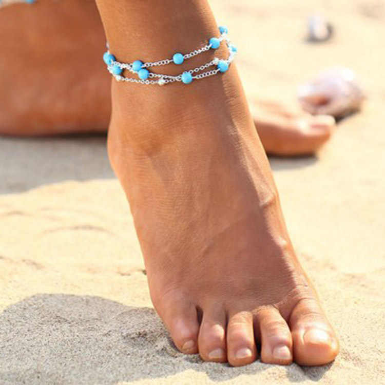 1PCS Multiple Vintage Anklets For Women Bohemian Ankle Bracelet Barefoot Sandals Foot Jewelry