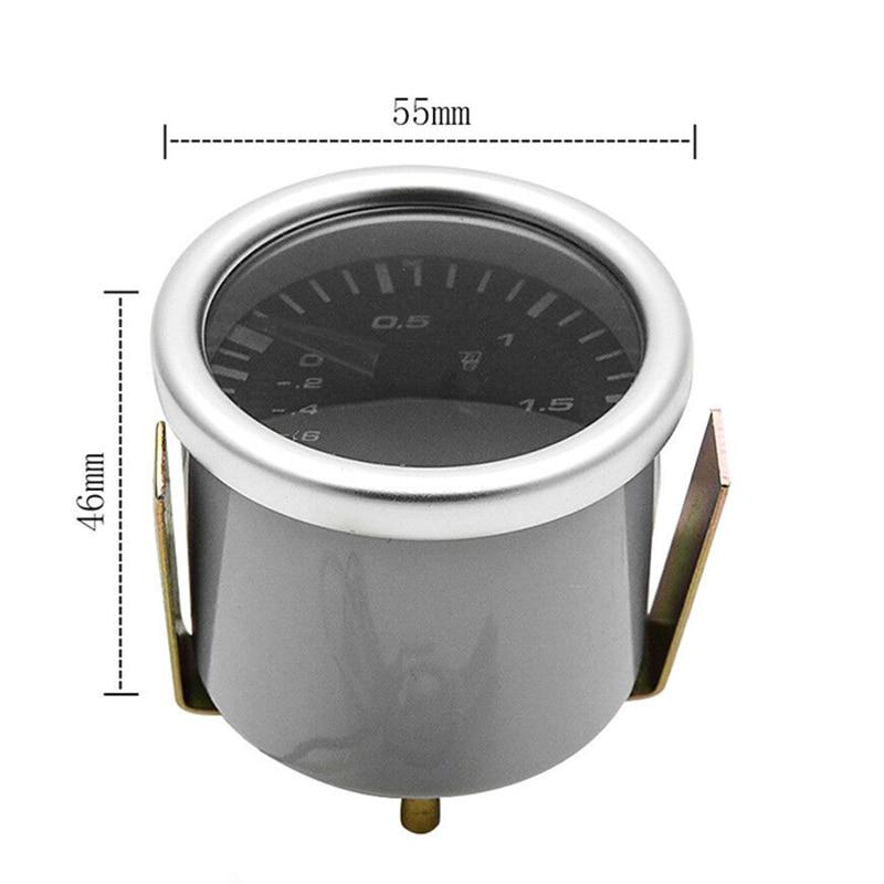 1 шт., 2 дюйма, Универсальный светодиодный автомобильный индикатор давления, инструмент, турбо калибр, прочный, автозапчасти для замены