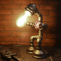 Industrial style retro American student dormitory children's bedroom living room bedside bar plug-in household table lamp