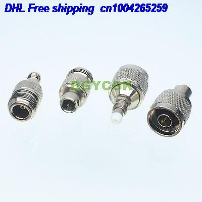 DHL 80pcs 4pcs/set Adapter N To FME Female F  Male M Kit Connector  For Communication Adapter Connector  22cs