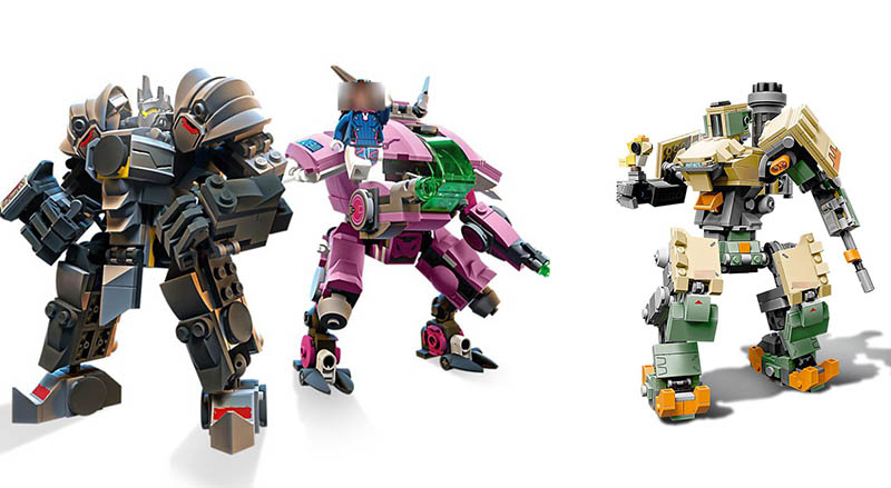 NEW Compatible Legoinglys Overwatching 75973 75974 Games D.Va & Reinhardt Building Blocks Bricks Toys Gifts For Kids Children