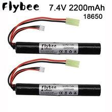 Tamiya plug Lipo Power Battery Airsoft gun battery 7,4 V 2200MAH 40C AKKU Mini Airsoft toys Gun 2S 2200mAh батарея модельные детали