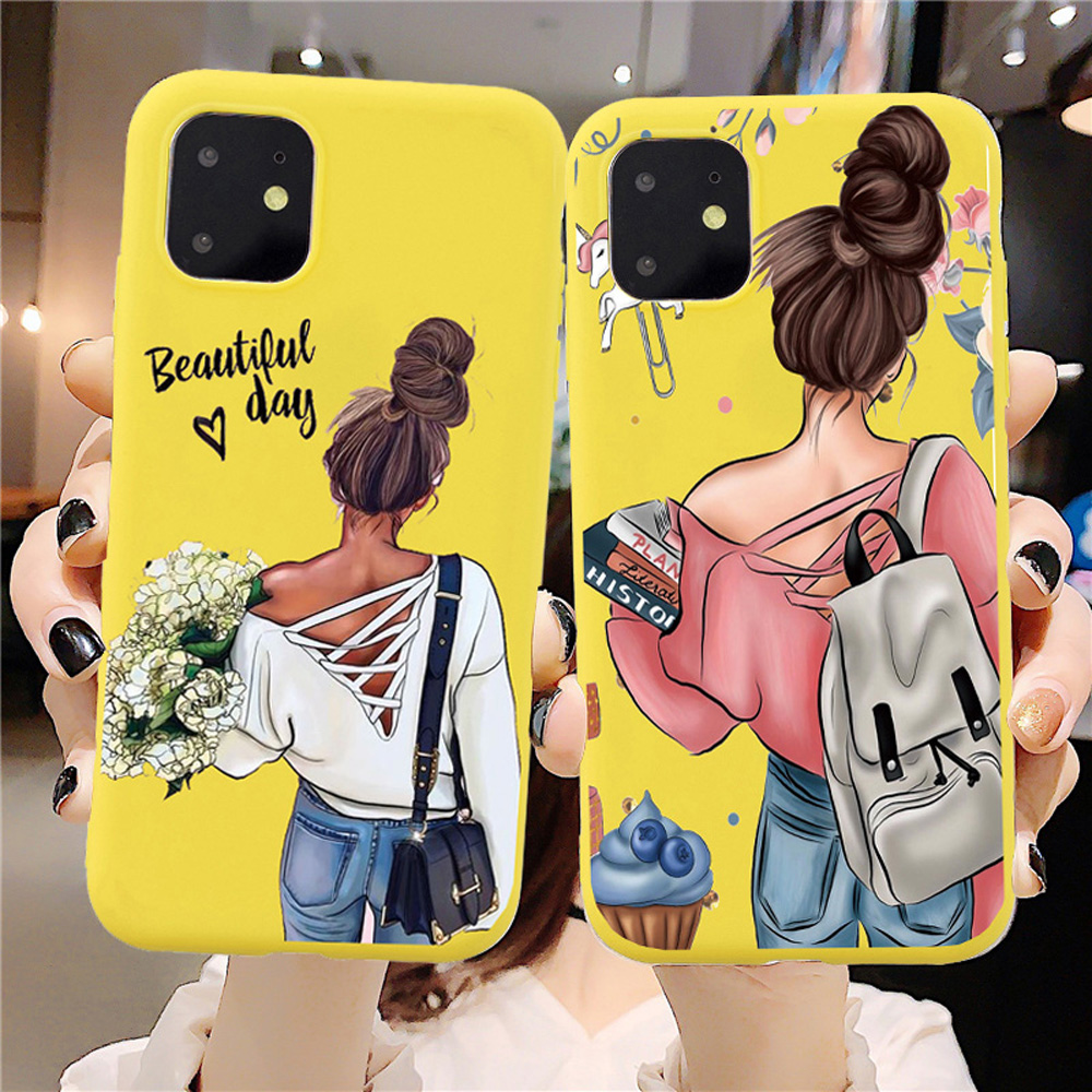 Soft Silicon Phone <font><b>Case</b></font> For <font><b>iPhone</b></font> 11 Pro <font><b>Case</b></font> <font><b>Sexy</b></font> Mom Lovely Baby For <font><b>iPhone</b></font> X XS Max Max 6 6S <font><b>7</b></font> 8 Plus SE 2020 Cover image