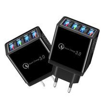 Портативное быстрое зарядное устройство 3,1 а для дома и путешествий с вилкой Стандарта ЕС/США, 4 USB-порта, зарядное устройство для телефона, н...