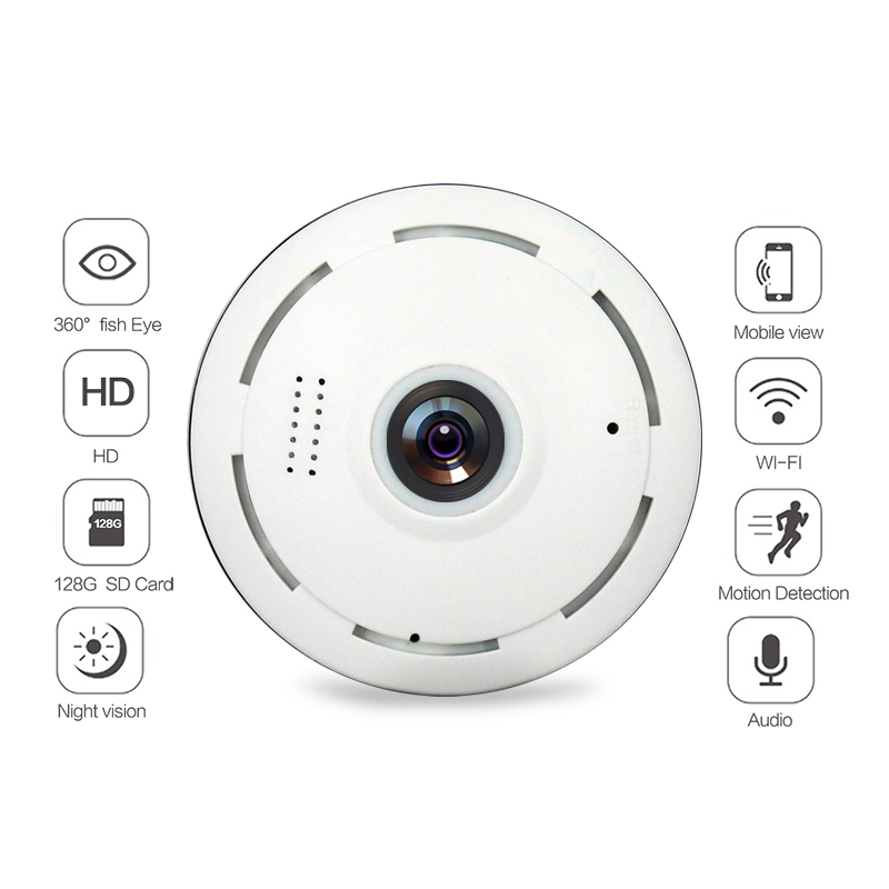 Image 2 - Amorvue Wifi IP Camera 360 Degree Fisheye Lens Panoramic Dome Camera 960P CCTV Night Vision Security Camera Support TF Card-in Surveillance Cameras from Security & Protection