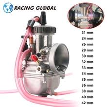 AlCON-Racing PWK Carburetor 21 24 26 28 30 32 33 34 35 36 38 40 42MM Universal For Keihin Racing Carburedor 2T 4T Engine