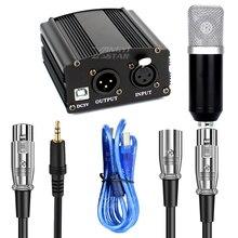 Alimentation fantôme 48V pour u89 87 67 Ai BM800, équipement denregistrement de Microphone à condensateur, karaoké, micro pour ordinateur portable