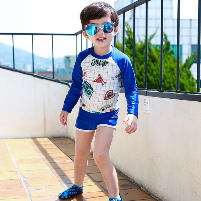 2017 New Style Fashion Cartoon Children Two-piece Swimsuits Big Kid-