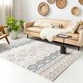 2021 ковер в богемном стиле с принтом, фланелевый коврик, нескользящий напольный ковер с принтом для гостиной, спальни, домашний декоративный ...