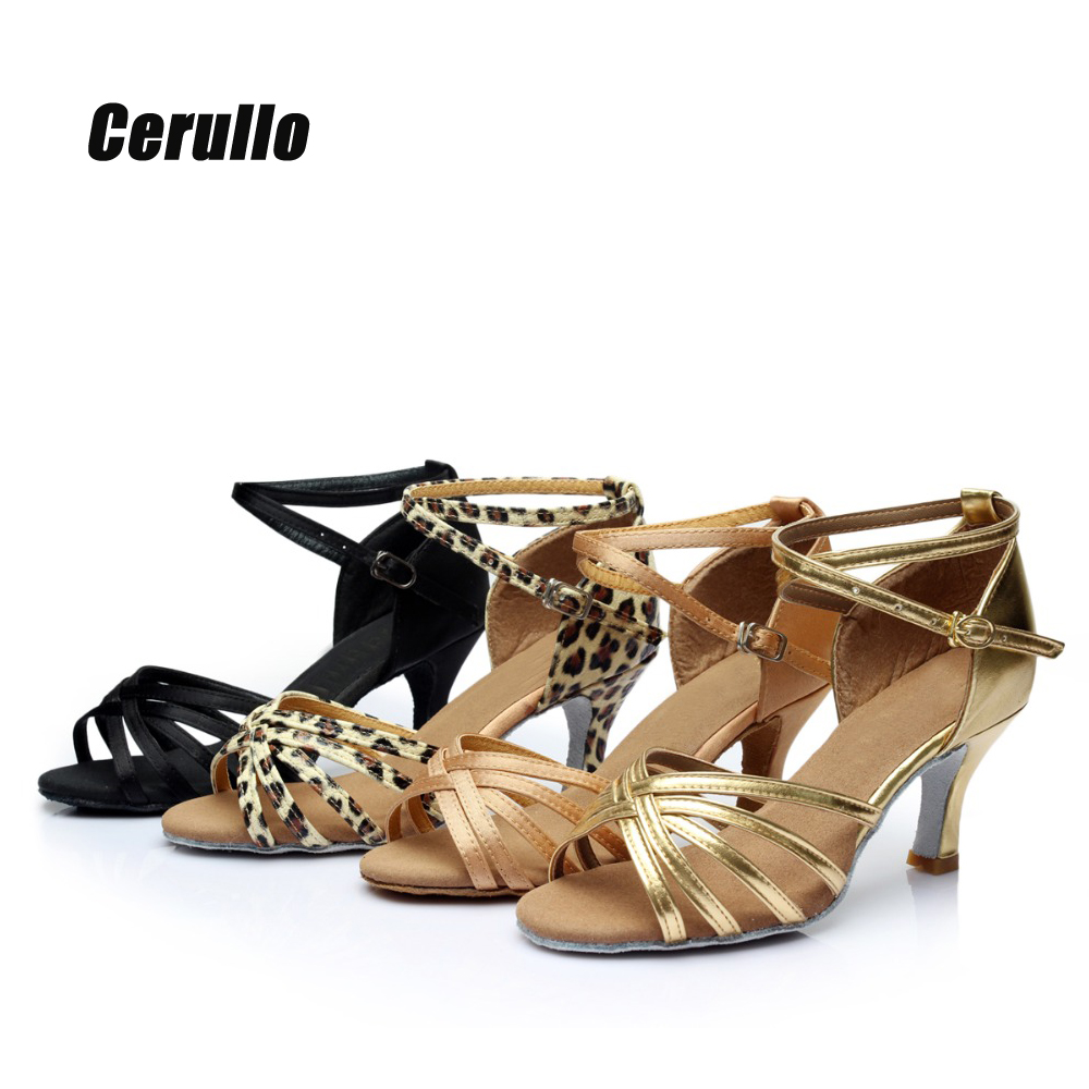 Woman Latin Shoes Latin Dance Shoes Salsa Samba Party Ballroom Tango Dancing Shoes Sneakers for Ladies Girls High Heel soft A01G
