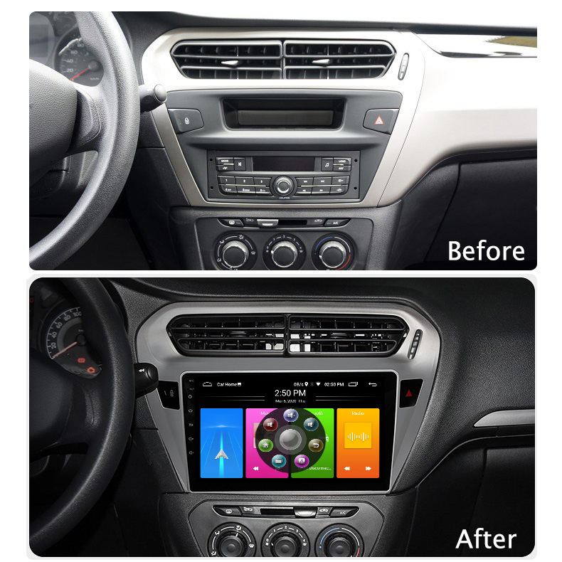 Car Android 10 <font><b>GPS</b></font> <font><b>For</b></font> <font><b>Peugeot</b></font> <font><b>301</b></font> Citroen Elysee Radio Navigation Multimedia Cassette Recorder Player Stereo Carplay Head Unit image