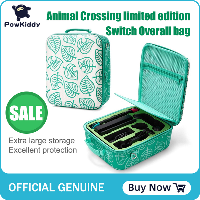 Powkiddy for Nintendo Switch Bag Animal Crossing Nintendoswitch Nintend Switch Travel Case Controller Hard Carry Portable Pouch 1