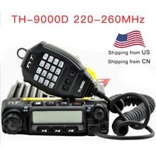 TYT araç iki yönlü telsiz TH 9000D 220 260MHz 60 watt çıkış gücü araba telsiz TH9000D Walkie Talkie