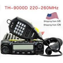 TYT pojazd dwukierunkowy radiowy TH 9000D 220 260MHz 60 watów moc wyjściowa samochodowy Transceiver TH9000D Walkie Talkie