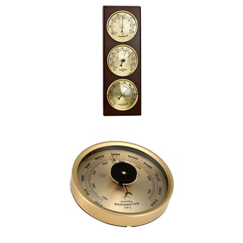 Wall Barometer Thermometer Hygrometer Air Pressure Gauge Weather Station Hanging Home/Office Metal Material