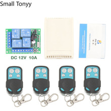 DC12V 10A 4CH Remote Control Switch Wireless Receiver Relay Module for rf 433MHz Remote Garage\ Lighting\Electric Curtain Switch high quality dc24v rf wireless remote control switch 4ch 10a 1pcs receiver