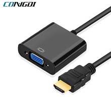 HDMI-compatible To VGA Adapter Cable Male To Famale Converter for PS4 1080P Digital To Analogue Video Audio for PC Laptop Tablet