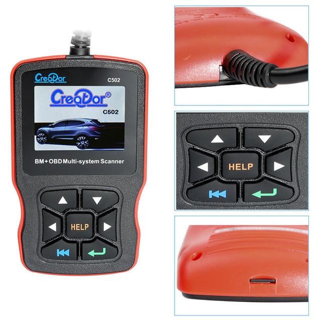 NEW2020 Creator C502 OBD2 Diagnose Werkzeug Voll Systeme Auto Diagnose Scanner Professional Für Mercedes Benz OBD2 Scanner Werkzeuge