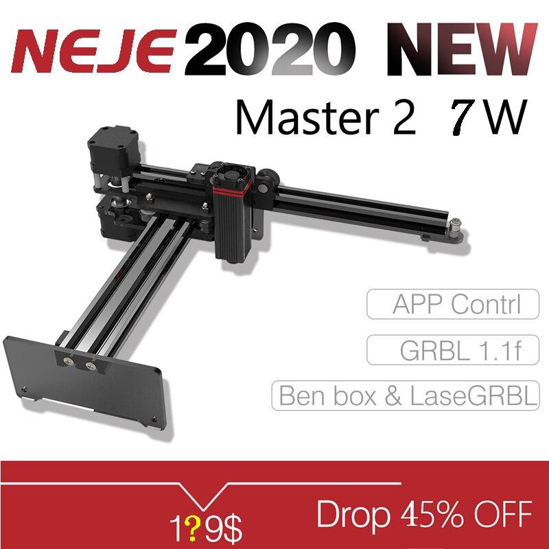 2020 NEJE Master 2 7W pulpit grawer laserowy i frez-maszyna do grawerowania i cięcia laserowego-drukarka laserowa-Laser CNC Router