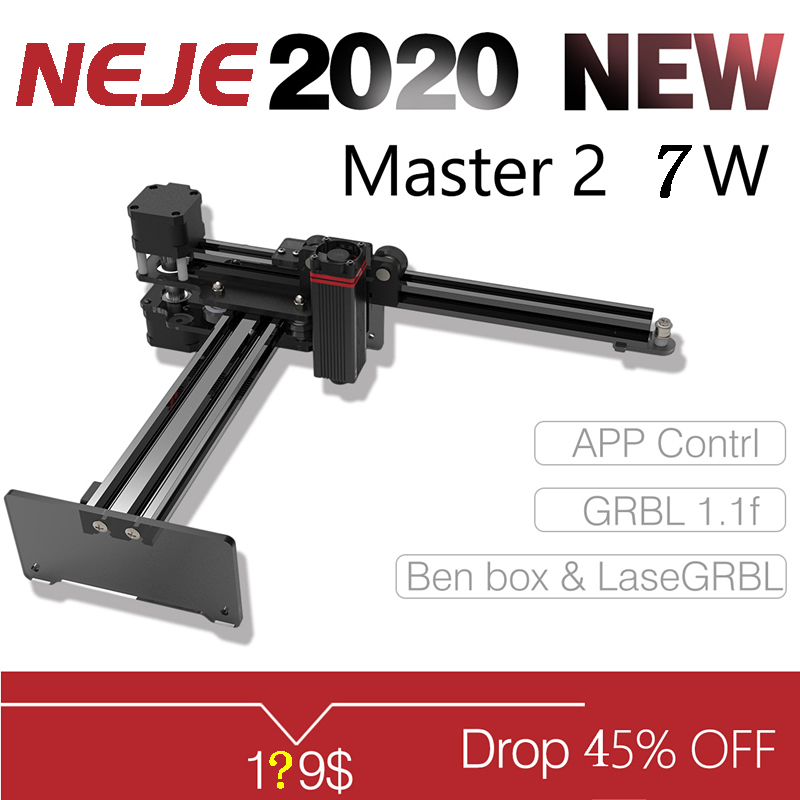 Master 2 7W Laser Engraving Machine Upgrade Version With Wireless APP Control - Benbox - GRBL1.1f - LaserGRBL- MEMS Protection