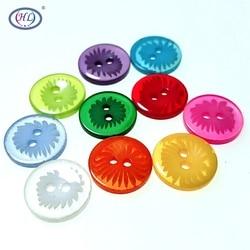 HL 50/100/200pcs/lot 13MM Mix Colors 2 Holes Plastic Buttons Apparel Sewing Accessories DIY Scrapbooking
