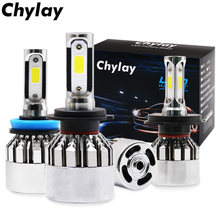 2Pcs LED H7 H4 H1 H3 H11 H8 H9 H13 9005 HB4 HB3 9006 9007 881 Car Headlight Bulb 72W 8000lm 6500K Auto Led Lamp Fog Lights 12V(China)