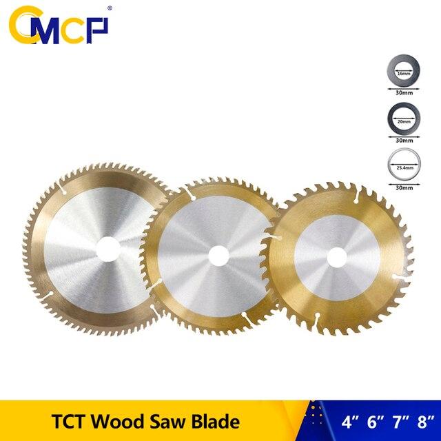 """1Pc 4 """"6"""" 7 """"8"""" นิ้วงานไม้Sawใบมีด30T 40T 60T 80Tใบเลื่อยวงเดือนสำหรับไม้TiCN Coated TCTตัด"""
