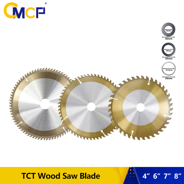 """1pc 4"""" 6"""" 7"""" 8"""" Inch Woodworking Saw Blade 30T 40T 60T 80T Circular Saw Blade For Wood TiCN Coated TCT Saw Cutting Disc"""